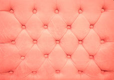 Vintage old rose leather upholstery buttoned sofa Royalty Free Stock Images