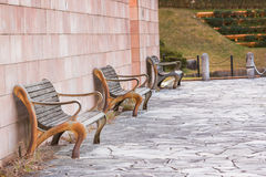 Vintage old rusty bench. Royalty Free Stock Image