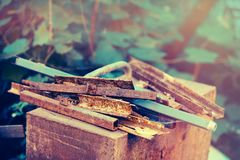 Rusty scrap metal Stock Images