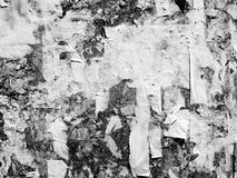 Vintage Old Scratched advertising Grunge walls billboard torn poster paper, urban texture Abstract Frame Background Creased Crumpl royalty free stock images