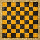 Vintage old scratched empty chess board Royalty Free Stock Photos
