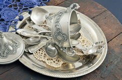 Vintage old silverware Royalty Free Stock Image