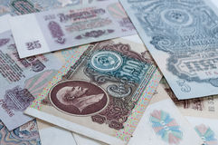 Vintage old soviet money Stock Images