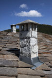 Vintage old stone authentic chimney Stock Image