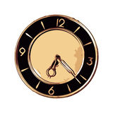 Vintage Old Style Fashioned Wall Clock  Royalty Free Stock Photography