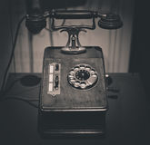Vintage old telephone Stock Image