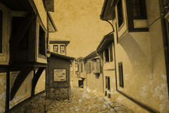 Vintage old town Stock Photography
