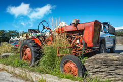 Vintage Old Tractor Royalty Free Stock Photos