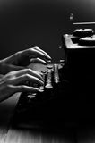 Vintage old typewriter, selective focus. Stock Photography