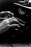 Vintage old typewriter, selective focus. Stock Image