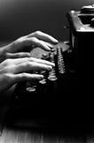 Vintage old typewriter, selective focus. Royalty Free Stock Photo