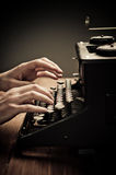 Vintage old typewriter, selective focus Stock Image