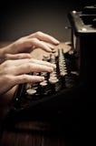 Vintage old typewriter, selective focus Royalty Free Stock Image