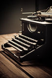 Vintage old typewriter, selective focus Royalty Free Stock Photos