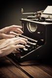 Vintage old typewriter, selective focus Stock Photos