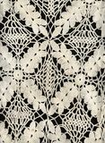 Vintage old white lace Royalty Free Stock Photo