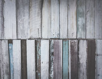 The vintage old wood background paint blue tone color in the fil. Vintage old wood background paint blue tone color in the film style Stock Images