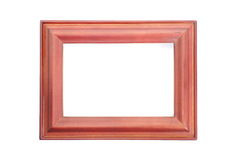 Vintage old wood photo frame Royalty Free Stock Images