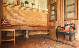 Vintage old wooden armchair Royalty Free Stock Photos