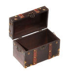 Vintage old wooden chest isolated stock photo