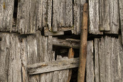 Old weathered wooden wall texture. Royalty Free Stock Photo