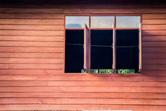 Vintage old wooden windows home country. Royalty Free Stock Photos