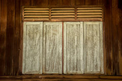 Vintage old wooden windows home country. Royalty Free Stock Photography