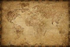 Free Vintage Old World Map Illustration Stock Photography - 164050862
