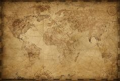 Vintage old world map illustration