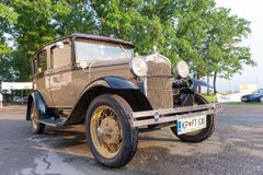 Vintage Oldtimer Ford Model A. Maribor, Slovenia - May 12 2018: Vintage Oldtimer Ford Model A on display at public gathering of owners and fans of classic Stock Photo