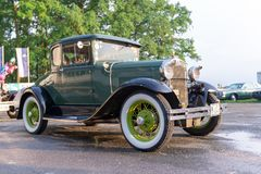 Vintage Oldtimer Ford Model A. Maribor, Slovenia - May 12 2018: Vintage Oldtimer Ford Model A on display at public gathering of owners and fans of classic Stock Image