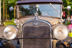 Vintage Oldtimer Ford Model A. Maribor, Slovenia - May 12 2018: Vintage Oldtimer Ford Model A on display at public gathering of owners and fans of classic Royalty Free Stock Images