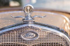 Vintage Oldtimer Ford Model A. Maribor, Slovenia - May 12 2018: Vintage Oldtimer Ford Model A on display at public gathering of owners and fans of classic Royalty Free Stock Photo