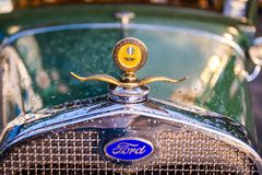 Vintage Oldtimer Ford Model A. Maribor, Slovenia - May 12 2018: Vintage Oldtimer Ford Model A on display at public gathering of owners and fans of classic Stock Images