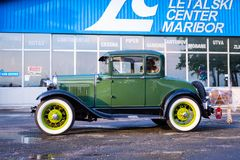 Vintage Oldtimer Ford Model A. Maribor, Slovenia - May 12 2018: Vintage Oldtimer Ford Model A on display at public gathering of owners and fans of classic Stock Photography