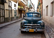 Vintage oldtimer in Havana Stock Photo