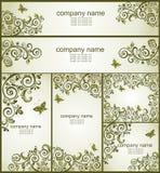 Vintage olive floral design Royalty Free Stock Photos