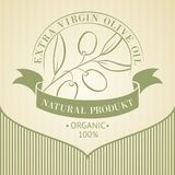 Vintage olive oil label. Vintage olive oil label for your design. Vector illustration Stock Photos