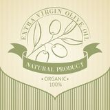 Vintage olive oil label. Vintage olive oil label for your design. Vector illustration Royalty Free Stock Image