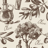 Vintage olive seamless pattern Stock Photography
