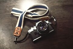 Vintage Olympus camera Stock Images