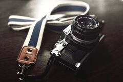 Vintage Olympus camera Royalty Free Stock Photo