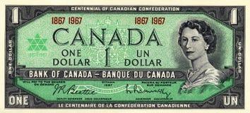 Vintage One Dollar Bill stock photos