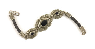 Vintage onyx bracelet Royalty Free Stock Image