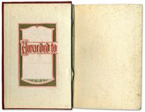 Vintage Open Book With Label Inside royalty free stock photo