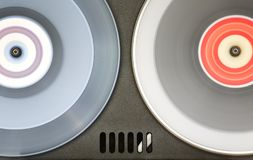 Vintage open reel tape recorder, close up Royalty Free Stock Images