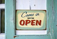 Free Vintage Open Sign Royalty Free Stock Photos - 46072568