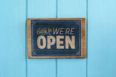 Vintage open sign Stock Image