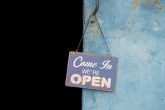 Vintage open sign Royalty Free Stock Photos
