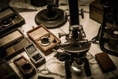 Vintage optical devices Royalty Free Stock Photos